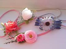 Ozdoby do vlasov - Kvetinová čelenka na gumičke - 8245591_