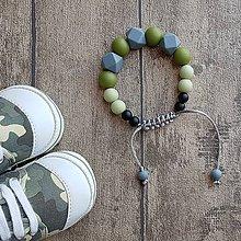 """Šperky - Silikónový náramok pre tatinka """"Army"""" - 8244871_"""