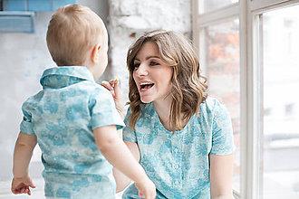 """Detské oblečenie - Rovnaké rodinné oblečenie pre mamu a syna """"Sovy"""" - 8245109_"""