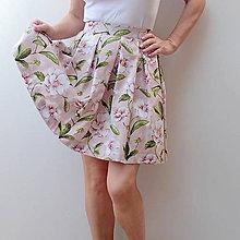Sukne - Starorůžová sukně s ibiškovým květem - 8245360_