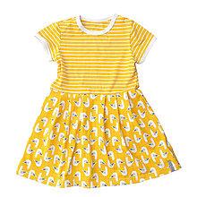 Detské oblečenie - BIO-šaty - Seagulls mustard - 8244047_