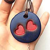 Náhrdelníky - Betónový náhrdelník DoubleLove blue - 8244629_