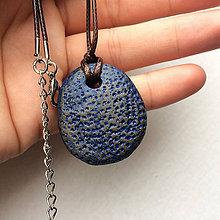 Náhrdelníky - Betónový náhrdelník justStone blue - 8244692_