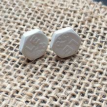 Náušnice - Betónky Hex nuts middle LE 01 - 8244725_