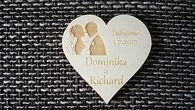 Darčeky pre svadobčanov - Srdiečko pre hostí 9 - magnetka - 8245178_