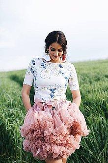Tričká - Elegantný top na dojčenie Flora - 8244330_