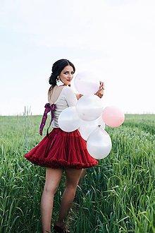 Tričká - Elegantný top na dojčenie Nude s mašľou - 8244356_