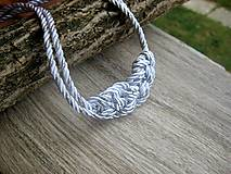 Náhrdelníky - Uzlový náhrdelník z dvoch šnúr - 8245007_