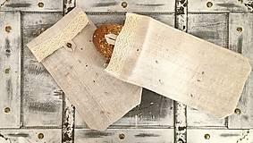Úžitkový textil - Vrecúško na chlieb z ľanového plátna - 8245691_