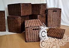 Košíky - Boxy s poklopom JOHANKA/sada,aj jednotlivo - 8244924_