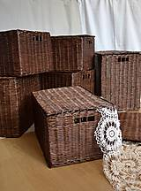 Košíky - Boxy s poklopom JOHANKA/sada,aj jednotlivo - 8244926_