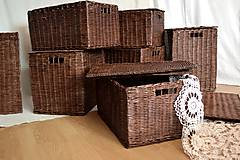 Košíky - Boxy s poklopom JOHANKA/sada,aj jednotlivo - 8244927_