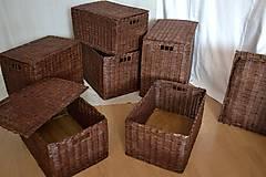 Košíky - Boxy s poklopom JOHANKA/sada,aj jednotlivo - 8244930_