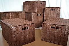 Košíky - Boxy s poklopom JOHANKA/sada,aj jednotlivo - 8244933_