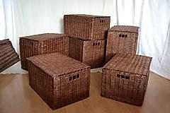 Košíky - Boxy s poklopom JOHANKA/sada,aj jednotlivo - 8244939_