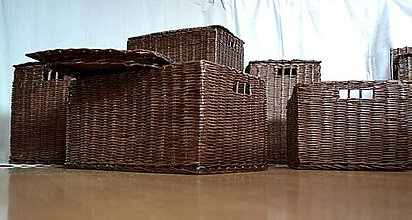 Košíky - Boxy s poklopom JOHANKA/sada,aj jednotlivo - 8244932_