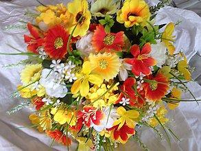 Kytice pre nevestu - Žltá -Kytica velka svadobná alebo gratulacna - 8244603_