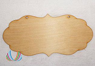 Polotovary - Drevená tabuľka - vlnitá - 8245311_