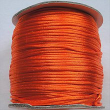 Galantéria - Satén.šnúra 1,5mm-1m (orange) - 8248470_