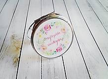 Darčeky pre svadobčanov - Zrkadielko na zákazku - 8249330_