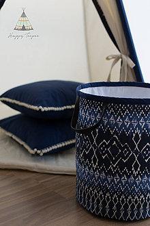 Úžitkový textil - Textilní koš - 8247246_