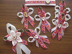 Darčeky pre svadobčanov - Folkové pierko malé - 8246619_