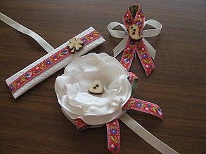Darčeky pre svadobčanov - Náramok pre družičku - folk - 8246657_