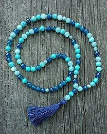 Náhrdelníky - Aqua náhrdelník z minerálov - 8247021_