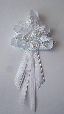 Pierka - Biele pierko pre svadobného otca / starejšieho - 8246827_