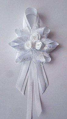 Pierka - Biele svadobné pierko pre svad. otca/starejšieho - 8246831_