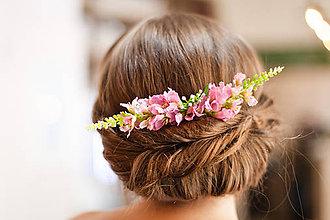 Ozdoby do vlasov - Kvetinový hrebenček \
