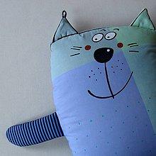Úžitkový textil - BLEDĚMODRÁ MICI - polštářek - 8249371_