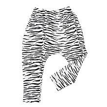 Detské oblečenie - BIO pudlové tepláky - zebra - 8247085_