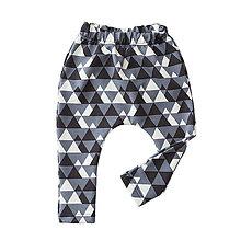Detské oblečenie - BIO pudlové tepláky - Triangles - 8247114_