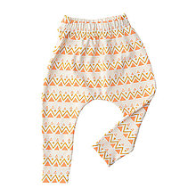 Detské oblečenie - BIO pudlové tepláky - cik-cak coral - 8247137_