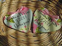 svadobné magnetky pre Danku a Miška