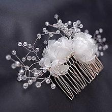 Iné šperky - Svadobný PET hrebienok do vlasov - 8248719_