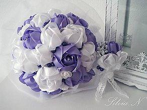 Kytice pre nevestu - Svadobná kytica,svadobné pierko - 8246697_
