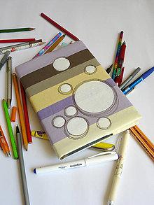Papiernictvo - Obal na zápisnik - kruhy - 8246255_