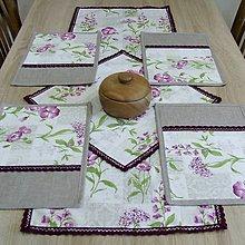 Úžitkový textil - Fialové poľné kvety -  prestieranie 25x35 - 8248202_