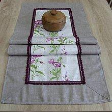 Úžitkový textil - Fialové poľné kvety -  obrus obdĺžnik 114x45 - 8248423_