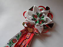 Pierka - Červené, biele folky pierko pre starostu - 8247705_