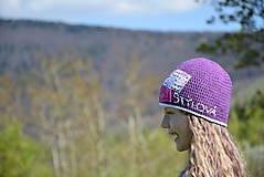 Detské čiapky - Čiapočka s textilnou aplikáciou