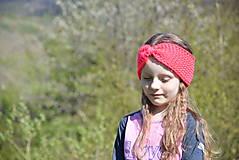 Ozdoby do vlasov - Pletená čelenka - neónovo ružová - 8248151_