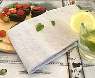 Úžitkový textil - Utierka z ľanového plátna - 8248278_