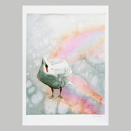 Odvrácená strana duhy - originál, velký akvarel