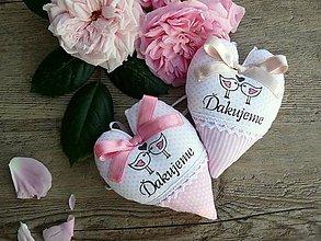 """Darčeky pre svadobčanov - srdiečka """"Neha v ružovej"""" - 8249737_"""