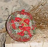 Dekorácie - kytica: Divé maky - 8251592_