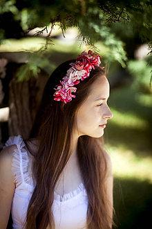 Ozdoby do vlasov - V ružovej záhrade - čelenka - 8251218_