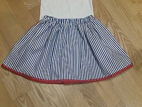 Detské oblečenie - Pruzkovana s krajkou - 8252691_